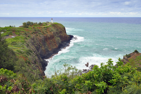 USA, Hawaii, Kilauea, Lighthouse at Kilauea Point National Wildlife Refuge - BRF001128