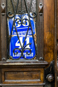 Two old house numbers at entry door - EJWF000741