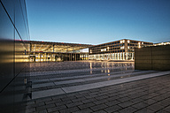 Germany, Brandenburg, view to lighted terminal of Berlin Brandenburg Airport - ASC000079