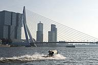 Netherlands, Rotterdam, view to Erasmus Bridge - MY000987