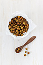 Roasted chickpeas in bowl - EVGF001479