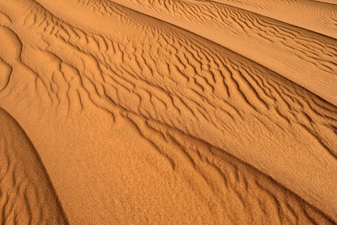 Algeria, Tassili n' Ajjer, sand ripples on a desert dune at Sahara - ESF001560