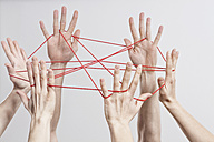 Connection, Team, Teamwork, Relationship, Hands, Cat's Cradle - RBF002579