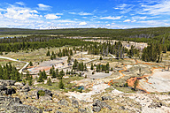 USA, Yellowstone National Park, View over Artists Paintpots - FOF007991