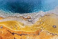 USA, Yellowstone Park, Hot spring, Black Pool, close-up - FOF007993