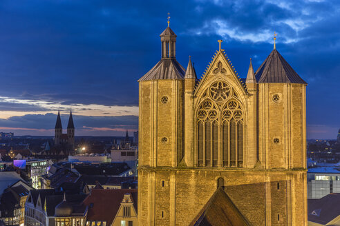Germany, Lower Saxony, Brunswick, Brunswick Cathedral in the evening - PVCF000394