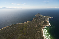 South Africa, Cape Peninsula, aerial view of False Bay and Cape Point - CLPF000077