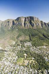 South Africa, aerial view of Newlands in Cape Town and Table Mountain National Park - CLPF000082