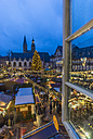 Germany, Lower Saxony, Goslar, View to Christmas market in the evening - PVC000399