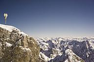 Germany, Bavaria, summit cross on Zugspitze - FLF000854