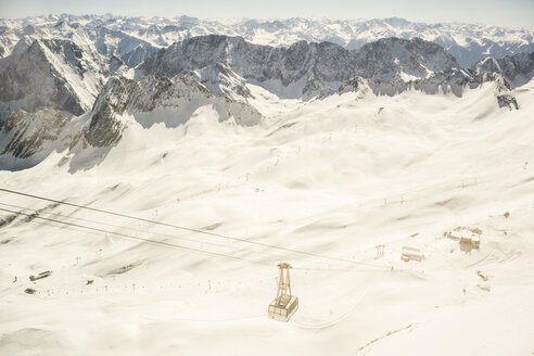 Germany, Bavaria, cable car at Zugspitze - FLF000858