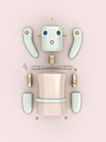 Construction kit of a female robot, 3D rendering - UWF000432
