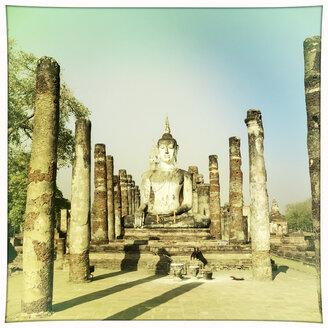 Buddha Statue, Wat Si Chum, Sukothai, Thailand - DR001558