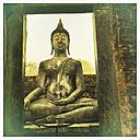 Buddha Statue, Wat Si Chum, Sukothai, Thailand - DR001561