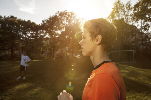 Teenager on soccer pitch - GCF000058