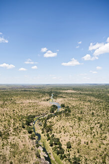 Zimbabwe with view in to Zambia, aerial view at Victoria Falls National Park - CLPF000092