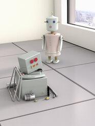 Two robots, 3D Rendering - UWF000436