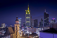Germany, Hesse, Frankfurt, Downtown view with Hauptwache and financial district - NKF000236