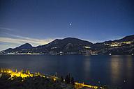 Italy, Brenzone, Lake Garda at night - LVF003271
