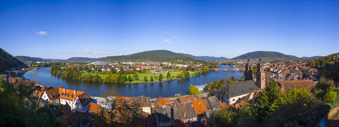 Germany, Bavaria, Miltenberg, cityscape with river Main loop - AMF003987