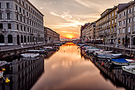 Italy, Trieste, Canal Grande at sunset - DAWF000372