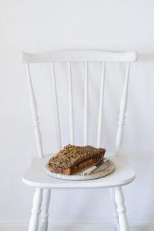 Danish cake Droemmekage  on chair - ECF001827