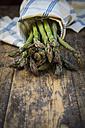 Organic green asparagus, Asparagus officinalis - LVF003249