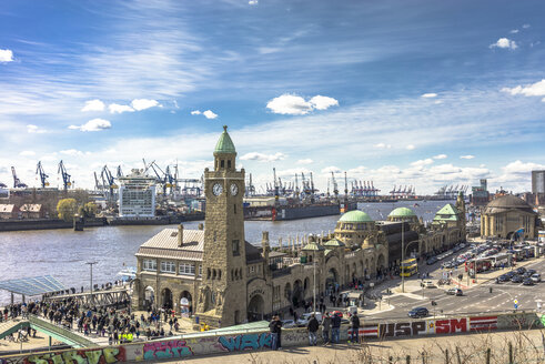 Germany, Hamburg, St Pauli Landing Stages - EGBF000012