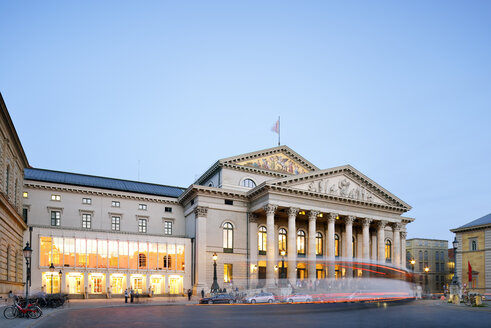 Germany, Bavaria, Munich, Residenztheater and National Theatre at blue hour - BRF001217