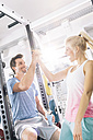 Young couple after training at gym - MADF000210