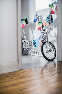 Bicycle used as clotheshorse - RIBF000056