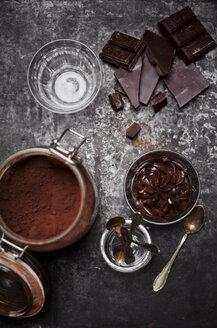 Glasses of homemade vegan Mousse au Chocolat - CZF000198