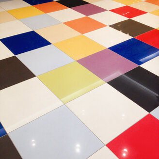 Floor with coloured tiles, Berlin, Germany - MEMF000732