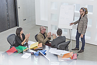 Businesspeople having a meeting in conference room - ZEF004920