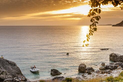 Greece, Corfu, Agios Georgios bay in the evening - EGBF000035