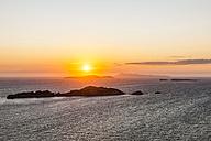 Greece, Corfu, Afionas, sunset at the coast - EGBF000052