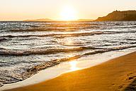 Greece, Corfu, Arillas beach in the evening - EGBF000057