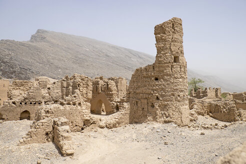 Oman, Tanuf, destroyed loam house settlement - HLF000881