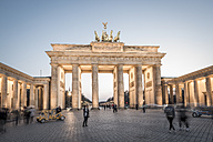 Germany, Berlin, Berlin-Mitte, Brandenburg Gate in the evening - EGB000076