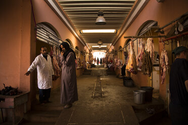 Morocco, Guelmim, butchery at the market - FC000661