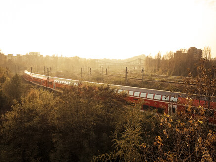 train at sunset, Berlin, Germany - FB000406