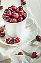 Fresh cranberries in a coffee cup - SBDF001884