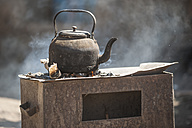 Ethiopia, Coffee kettle on stove - PAF001401