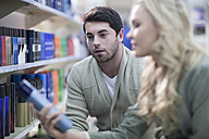 Couple shopping at drugstore - ZEF005826