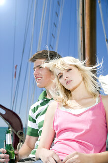 Young couple on a sailing ship - TOYF000886