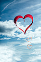Red heart-shaped kites in the air - MGOF000238