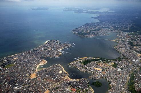 South America, Brazil, Salvador de Bahia, Aerial view - FLKF000610