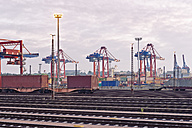 Germany, Hamburg, Railway tracks at the Port of Hamburg - MSF004591