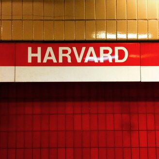 USA, Massachusetts, Boston, subway Station Harvard University - SEG000357