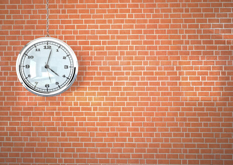 3d illustration, Watch on the brick wall - ALF000532